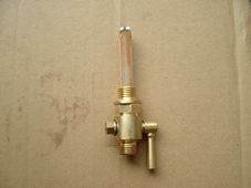 Brass taper tap, Ethyline resistent, large bore, 1/4 gas, good quality